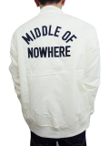 THE QUIET LIFE Middle Of Nowhere Satin Jacket CREAM/NAVY