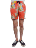 BANKS MACAW BOARDSHORT CORAL RED