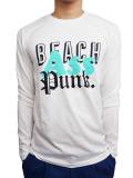 BEACH ASS PUNK MIXED TAPE L/S TEE WHITE