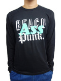 BEACH ASS PUNK MIXED TAPE L/S TEE BLACK