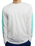 BEACH ASS PUNK BAP BAR L/S TEE WHITE