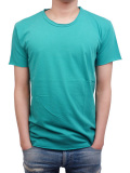 LIFE IS.... ROUGH NECK TEE LAKE GREEN