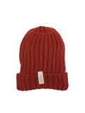 LIFE IS.... COTTON KNIT CAP MARRON