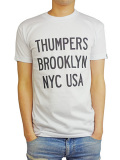 THUMPERS NYC COLOR LOGO S/S TEE WHITE/BLACK