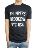 THUMPERS NYC COLOR LOGO S/S TEE BLACK/WHITE