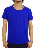 LIFE IS.... BALL NECK TEE BLUE