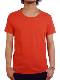 LIFE IS.... BALL NECK TEE RED