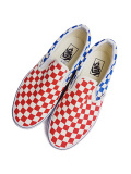 VANS Classic Slip-On (Checkerboard) red/blue