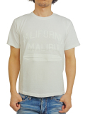 Birvin Uniform Pigment Shadow TEE (MALIBU) WHITE