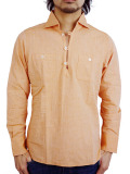 TMT L/SL CAPRI PULLOVER SHIRT ORANGE