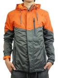 THE QUIET LIFE MC Windbreaker Jacket Orange/Grey
