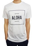 "ALOHA BEACH CLUB S/S ""BOXER"" TEE WHITE"