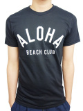 "ALOHA BEACH CLUB S/S ""CREW"" TEE BLACK"