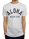 "ALOHA BEACH CLUB S/S ""CREW"" TEE WHITE"