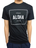 "ALOHA BEACH CLUB S/S ""BOXER"" TEE BLACK"