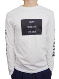 "ALOHA BEACH CLUB L/S ""CORPS"" TEE WHITE"