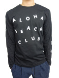 "ALOHA BEACH CLUB L/S ""CIRCUS"" TEE BLACK"