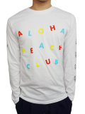 "ALOHA BEACH CLUB L/S ""CIRCUS"" TEE WHITE"