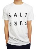 SALT SURF HALF REVERSE TEE WHITE