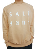 SALT SURF HALF REVERSE SWEATSHIRT PEACH