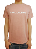 BANKS LABEL TEE SHIRT ASH ROSE