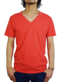 Freeseam BASIC V NECK CBSTCH RED