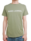 BANKS LABEL TEE SHIRT OLIVE