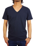 Freeseam BASIC V NECK CBSTCH D.NAVY
