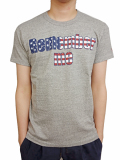 TMT S/SL 19/1 RAFI JERSEY(U.S. FLAG REMEMBER ME) TOP GRAY