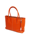 DESTINY'S DIMENSION Leather Tote Bag WESTWOOD 2 SOUTHERN ORANGE(ORANGE)