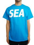 WIND AND SEA T-SHIRT A BLUE