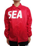 WIND AND SEA COACH JACKET A RED