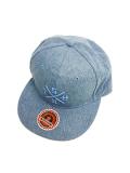 SURT×ONEITA DENIM FLAT VISOR CAP BY SURT LIGHT BLUE