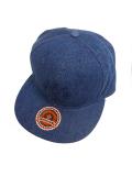 SURT×ONEITA DENIM FLAT VISOR CAP BY SURT BLUE