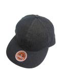 SURT DENIM FLAT VISOR CAP BY SURT BLACK