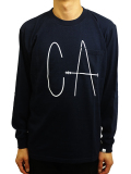 "SURT × ONEITA 17/-天竺 L/S POCKET TEE ""CA"""