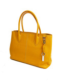 DESTINY'S DIMENSION Leather Tote Bag WESTWOOD 2 SHADOW YELLOW(YELLOW)