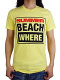 SUMMER RENTAL SUMMER BEACH WHERE? T-SHIRT YELLOW
