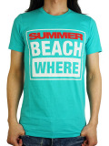SUMMER RENTAL SUMMER BEACH WHERE? T-SHIRT TEAL