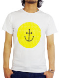 INSTED WE SMILE SMILEY FACE TEE YELLOW/WHIITE