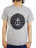 INSTED WE SMILE SMILEY FACE TEE BLACK/GRAY