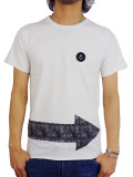 INSTED WE SMILE SARROW AND SMALL PATCH TEE BLACK/WHITE