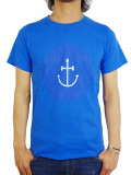 INSTED WE SMILE SMILEY FACE TEE BLUE/BLUE