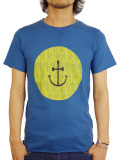 INSTED WE SMILE SMILEY FACE TEE YELLOW/NAVY