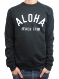 ALOHA BEACH CLUB CLUB CREW SWEATSHIRT BLACK