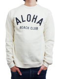 ALOHA BEACH CLUB CLUB CREW SWEATSHIRT WHITE