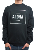 ALOHA BEACH CLUB BOXER CREW SWEATSHIRT BLACK