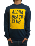 ALOHA BEACH CLUB SUNSHINE CREW SWEATSHIRT NAVY