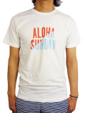 ALOHA SUNDAY SUPPLY Co. COLOR BLOCK T-SHIRT WHITE