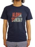 ALOHA SUNDAY SUPPLY Co. COLOR BLOCK T-SHIRT NAVY